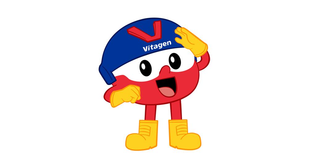 Captain VITAGEN Mascot